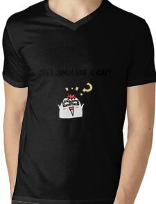DOES JUMIN HAN IS GAY ? Mysme Collection Mens V-Neck T-Shirt