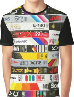 VHS tapes Graphic T-Shirt