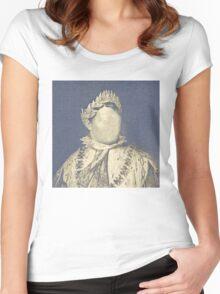 Faceless Napoleon Bonaparte Portrait Women's Fitted Scoop T-Shirt