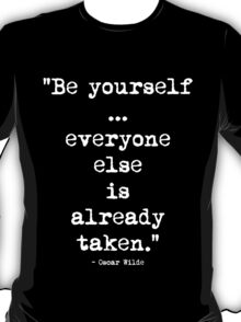 Oscar Wilde Be Yourself White T-Shirt