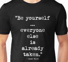 Oscar Wilde Be Yourself White Unisex T-Shirt