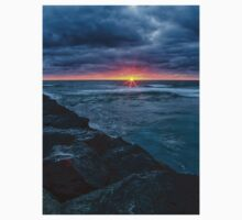 Imperial Beach Cloudy Sunset One Piece - Long Sleeve