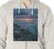 Imperial Beach Cloudy Sunset Zipped Hoodie