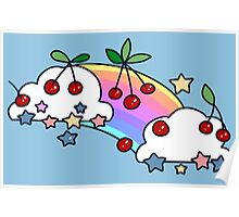 Cherry Rainbow Clouds Poster