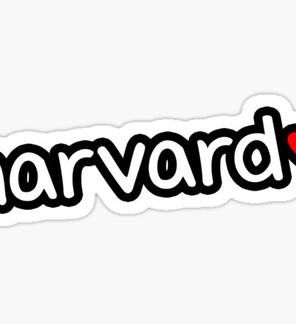 Harvard ❤ Sticker