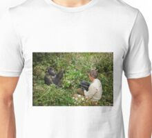 tourist is filming a mountain gorilla Unisex T-Shirt