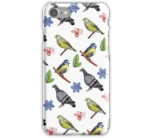 Watercolour Garden Birds Illustration/ Design iPhone Case/Skin