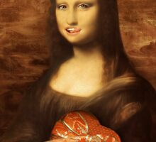 Mona Lisa Loves Valentine Candy by Gravityx9