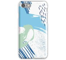 Polo Blue Artistic Abstract Brush iPhone Case/Skin