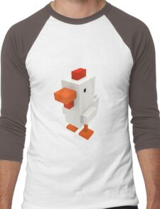Guess What Chicken Butt Funny Boxel Voxel Style Graphic Tee Sarcastic best Men's Baseball ¾ T-Shirt