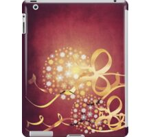 Snowflake balls grunge background iPad Case/Skin