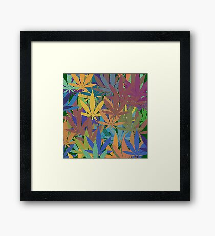 Marijuana Cannabis Weed Pot Abstract Framed Print