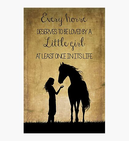 Girl and Horse Silhouette Photographic Print