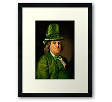 St Patrick's Day for Lucky Ben Franklin   Framed Print
