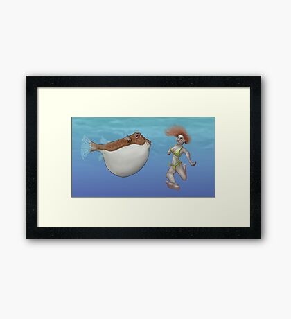 Blowfish face-off Framed Print