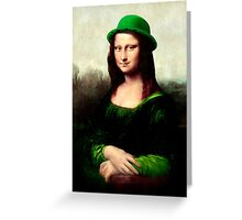 Lucky Mona Lisa - St Patrick's Day Greeting Card