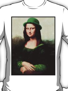 Lucky Mona Lisa - St Patrick's Day T-Shirt