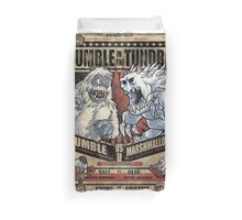 Rumble in the Tundra Duvet Cover