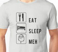 Road Trip Mashup Meme Face: Eat. Sleep. Meh. Unisex T-Shirt