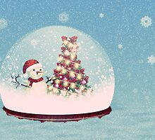 Snow globe with snowman by AnnArtshock