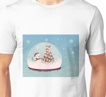 Snow globe with snowman Unisex T-Shirt