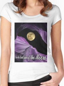 Dark Side Of The Moon T-Shirt  Women's Fitted Scoop T-Shirt