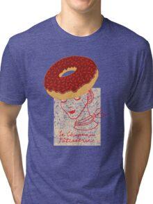 Ooh La La Pastry hat fashionista Tri-blend T-Shirt