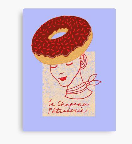 Ooh La La Pastry hat fashionista Canvas Print