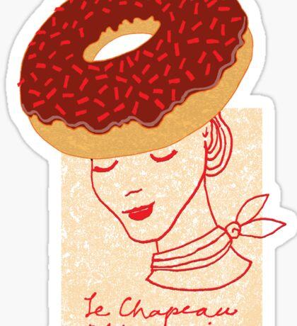 Ooh La La Pastry hat fashionista Sticker