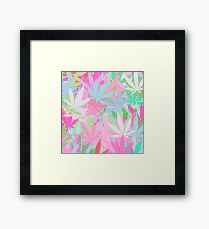 Marijuana Cannabis Weed Pot Spring Colors Framed Print