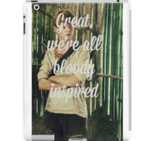 Great, we're all bloody inspired - The Maze Runner iPad Case/Skin