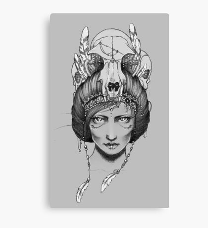 Skull Queen  Canvas Print