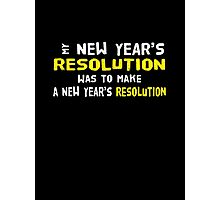 New Year's Resolution Success Photographic Print