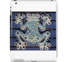 Blue Mosaic Frog iPad Case/Skin