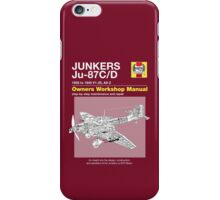 Junkers Ju-87 Owners Workshop Manual iPhone Case/Skin