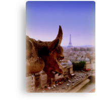 Gargoyle in Paris Canvas Print