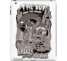 Boy from the sewer with snakes for eyes iPad Case/Skin