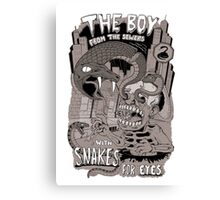 Boy from the sewer with snakes for eyes Canvas Print
