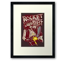 First Shot Parody Framed Print