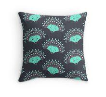 Hedgehog Fan Throw Pillow