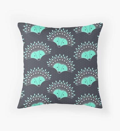 Hedgehog Fan Throw Pillow