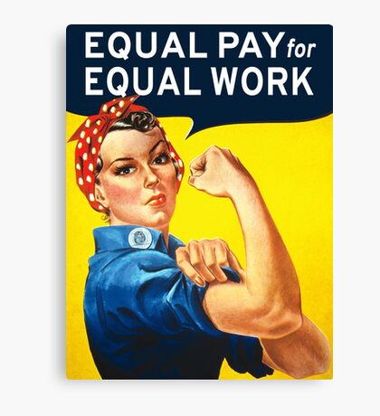 Equal Pay for Equal Work Income Gender Equality Feminism Canvas Print