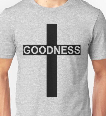Goodness - Word On A Christian Cross Unisex T-Shirt