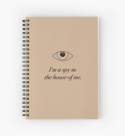 Spy in the House of Me - Carrie Fisher Memorial Journal Spiral Notebook