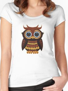 Friendly Owl Women's Fitted Scoop T-Shirt