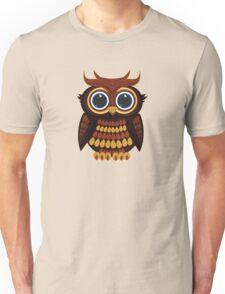 Friendly Owl - Black Unisex T-Shirt