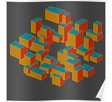 Circle Cube Poster