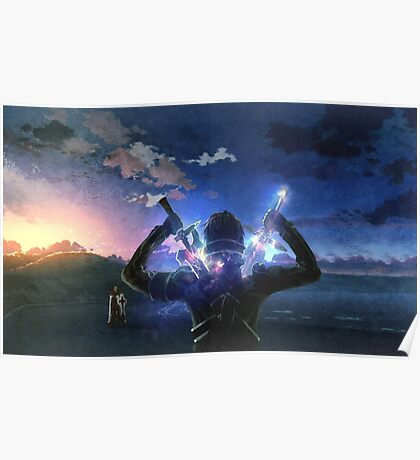 Sword Art Online Kirito vs Heatcliff Poster, Cover Poster