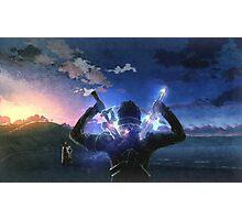 Sword Art Online Kirito vs Heatcliff Poster, Cover Photographic Print