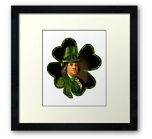 Lucky Ben Franklin Ready for St Patricks Day Framed Print